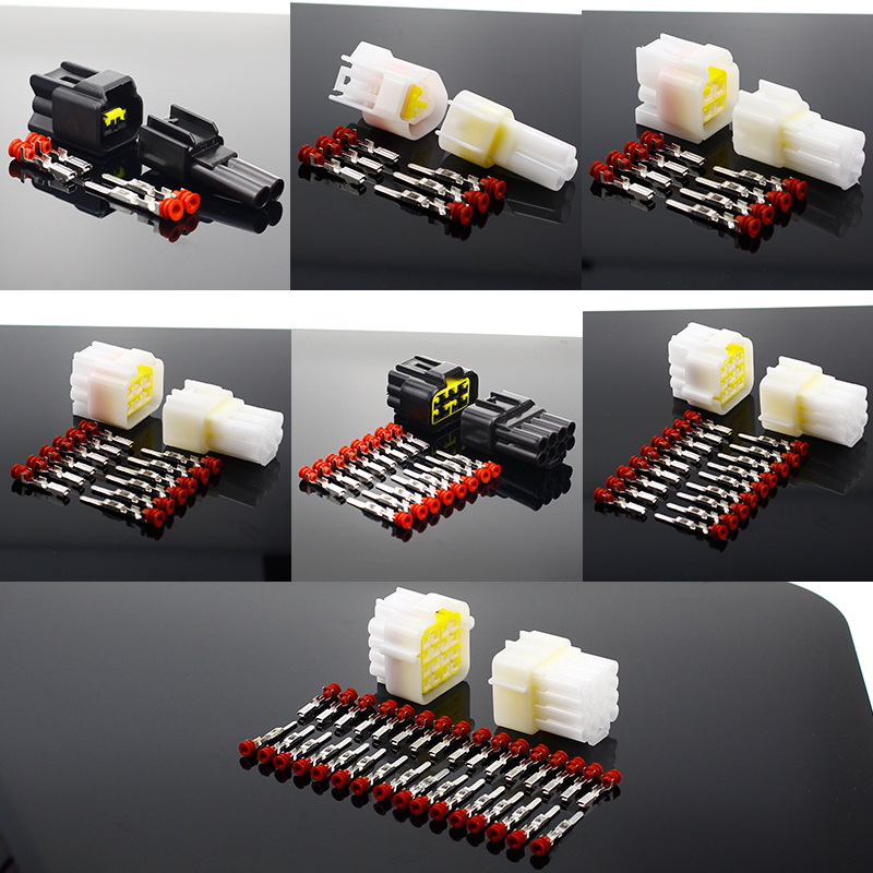1 Sets 2/3/4/6/8/9/16 Pin Way Waterproof Wire Connector Plug Car Auto Sealed Electrical Set Car Truck Connect