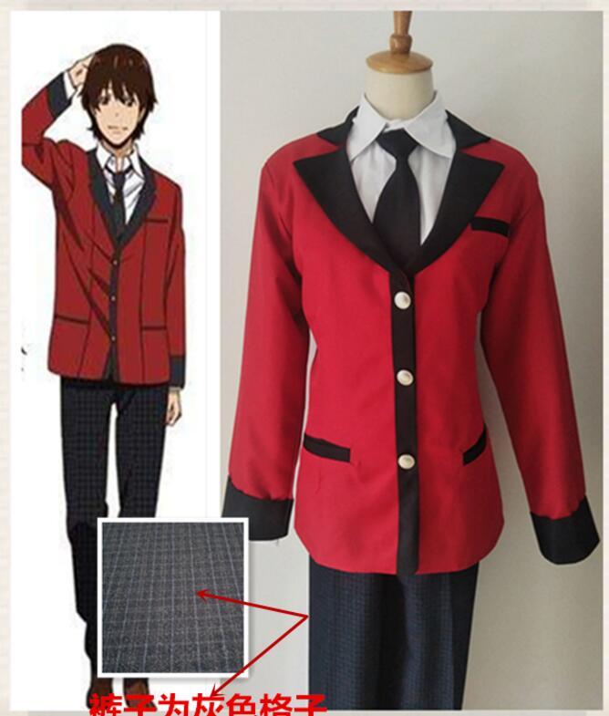Suzui Ryouta Cosplay Costume Kakegurui Anime Costumes ...