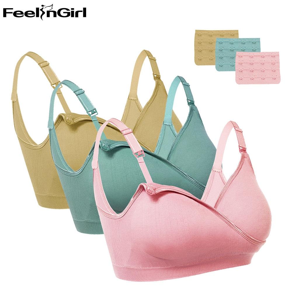 1f3045be2db FeelinGirl 2018 New Maternity Nursing Bra Cotton Breastfeeding Bra For Pregnant  Women Pregnancy Breast Feeding Underwear E-in Bras from Underwear ...