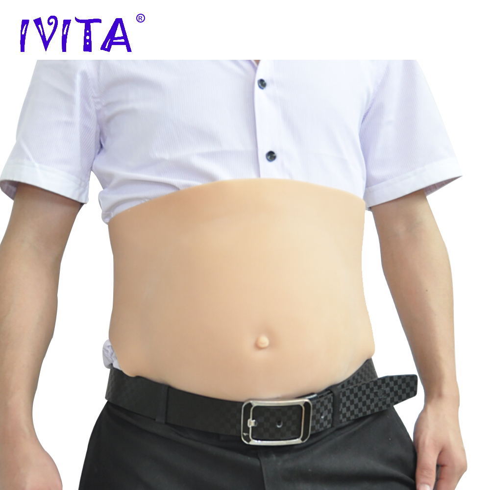 IVITA 1500g Silicone-Belly Drag Queen Artificial Silicon Crossdresser Fake Pregnant 2~4 Months Halloween Gestante TransvestiteIVITA 1500g Silicone-Belly Drag Queen Artificial Silicon Crossdresser Fake Pregnant 2~4 Months Halloween Gestante Transvestite