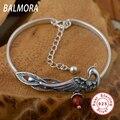 100% real pure 925 sterling silver bracelet women elegant Peacock Charm Bracelets party gift free shipping JLWB001