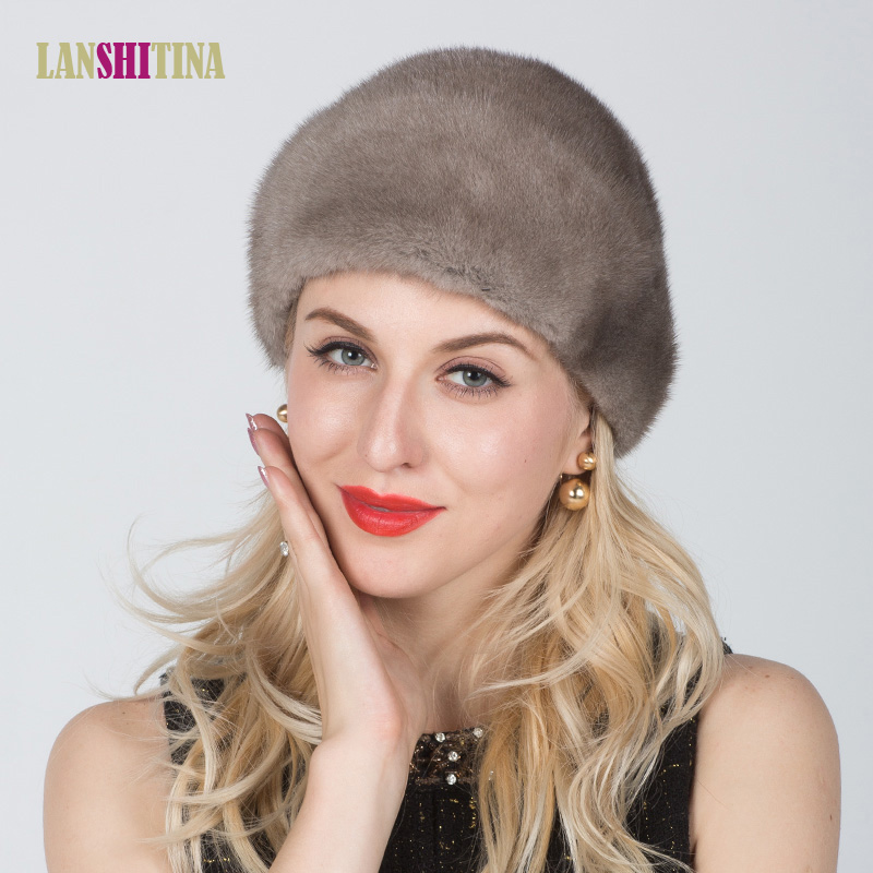 Real Mink Fur Knitted Fur Hat Winter Warm Genuine Mink Fur Hat Women Winter Fashion Casual Knitted Cap foreign trade explosion models in europe and america in winter knit hat fashion warm mink mink hat lady ear cap dhy 36
