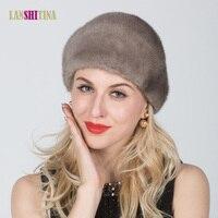 Real Mink Fur Knitted Fur Hat Winter Warm Genuine Mink Fur Hat Women Winter Fashion Casual Knitted Cap