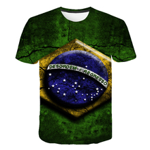 New Tops Summer Brazil Flag Fans Men T shirts Cotton Nostalgia Style Rio Games Fitness T-shirts Cool Streetwear