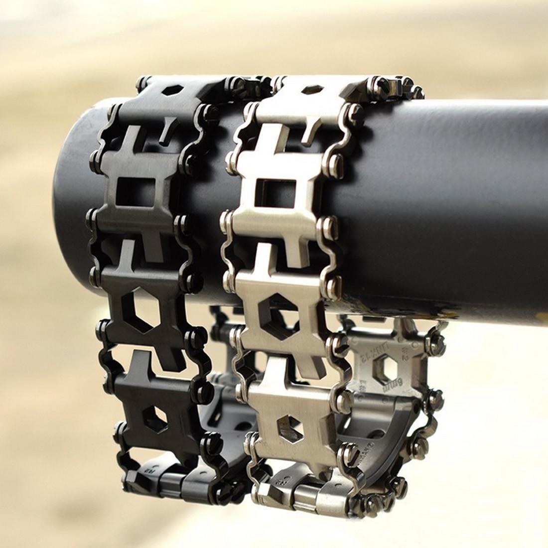 29 in1 Multifonctionnel Bracelet En Acier Inoxydable De Réparation D'outils À Main Clé Tournevis Décapsuleur D'urgence En Plein Air Outil