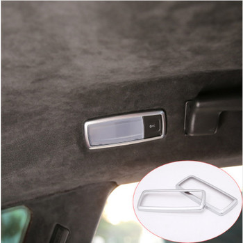 2 PCS Car Styling ABS Chrome Back row Light Box Cover Case For Maserati Levante 2016 Car Accessories