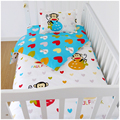 Hot Sale Christmas gift Crib Baby Bedding Sets 100%Cotton 3 Items Cot Quilt/Bed Around/Bed Skirt/Mattress Cover