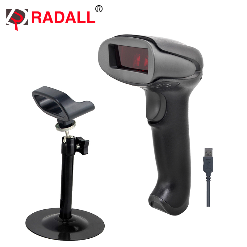 Handheld Low Price Laser Barcode Scanner Wired 1D USB Cable Bar Code Reader for POS System Supermarket -RD-2013 usb laser handheld barcode scanner reader for desktop laptop 2m cable page 1