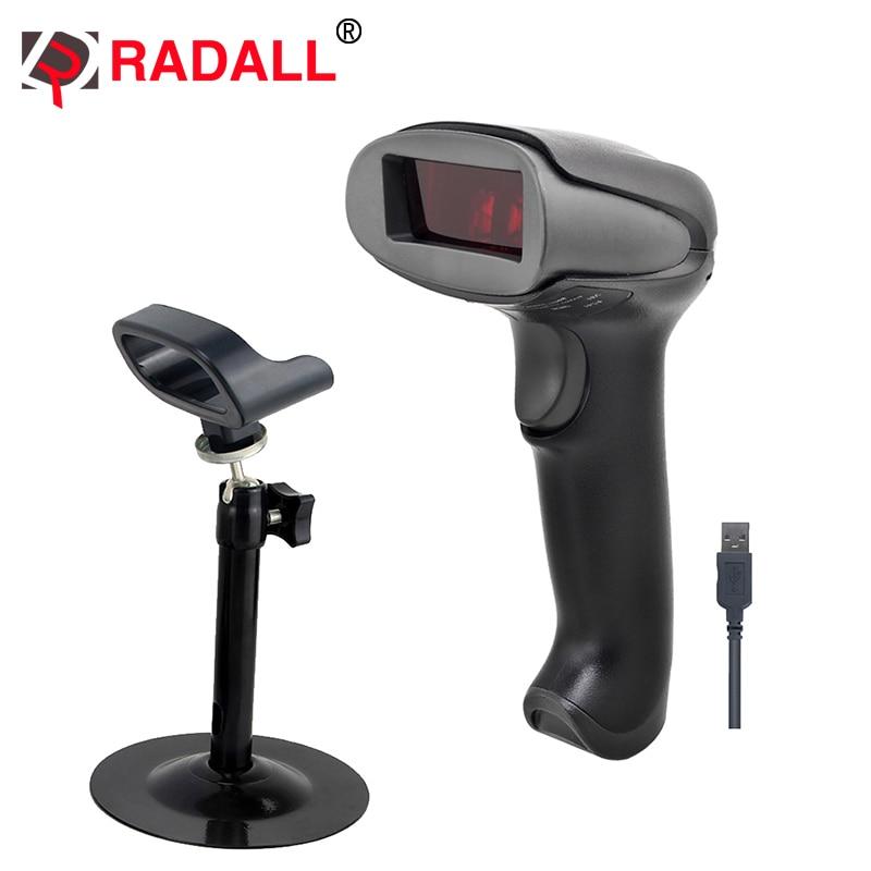 Handheld Niedrigen Preis Laser Barcode-scanner Verdrahtete 1D Usb-kabel Bar Code für Pos-System Supermarkt-RD-2013