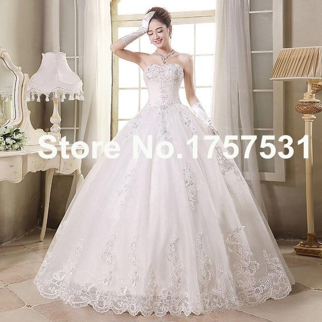 Vestidos de novia estilo princesa con guantes