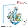 2017 Новое Поступление Cubicfun OC3202 Дубай Городской Пейзаж 3D Головоломки игрушки Город Модель Здания Головоломки 3D Дети DIY Рождество подарки