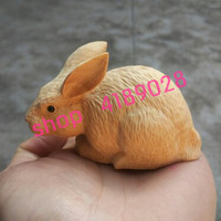 Natural boxwood, carving rabbit, handicraft decorations