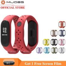 Mijobs Mi Band 4 Strap Wrist for Xiaomi 3 Sport Silicone Bracelet Smart Watch