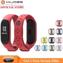 Mijobs for Mi Band 4 Strap Wrist Xiaomi 3 Sport Silicone Bracelet Smart Watch
