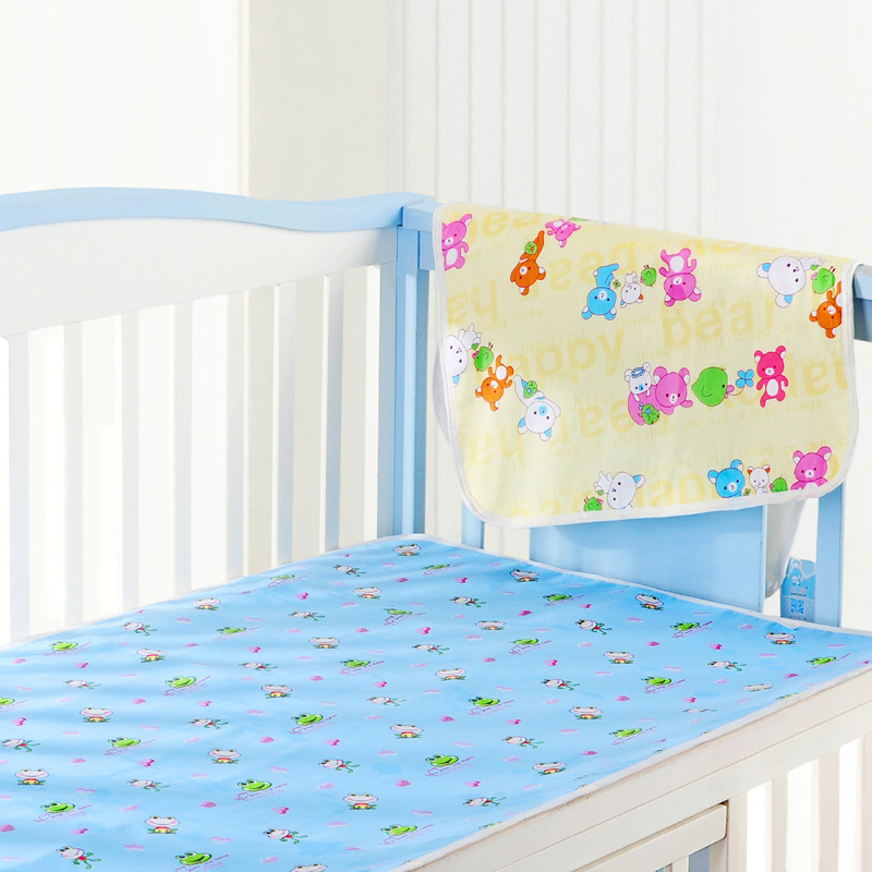 Baby Changing Mat Baby Waterproof Urine Pad Mat Cotton Washable Waterproof  Bed Sheet Pad 44X34CM