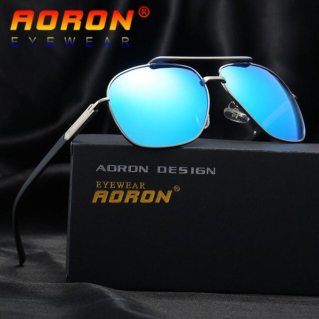 b5b300c942 AORON Brand Design Polarized Sunglasses Driving Sunglasses Male Metal Frame  Mirror Eyewear Accessories Sun Glasses For Men A324