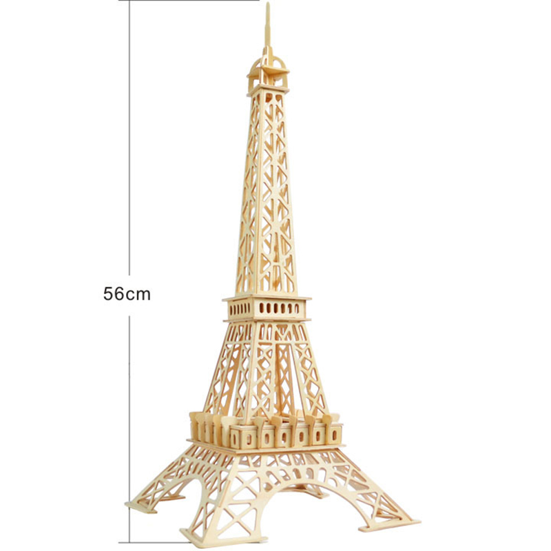 Creative 3D Wooden Eiffel Tower Assembled Model Educational Toys Learning Children's Educational Gifts Decorative Table Crafts