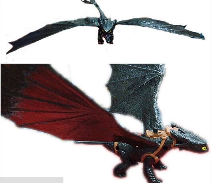 20cm large PVC figure HOW TO TRAIN YOUR DRAGON 2  night fury  Animiation Toys Doll ,retails,cartoon model child gift