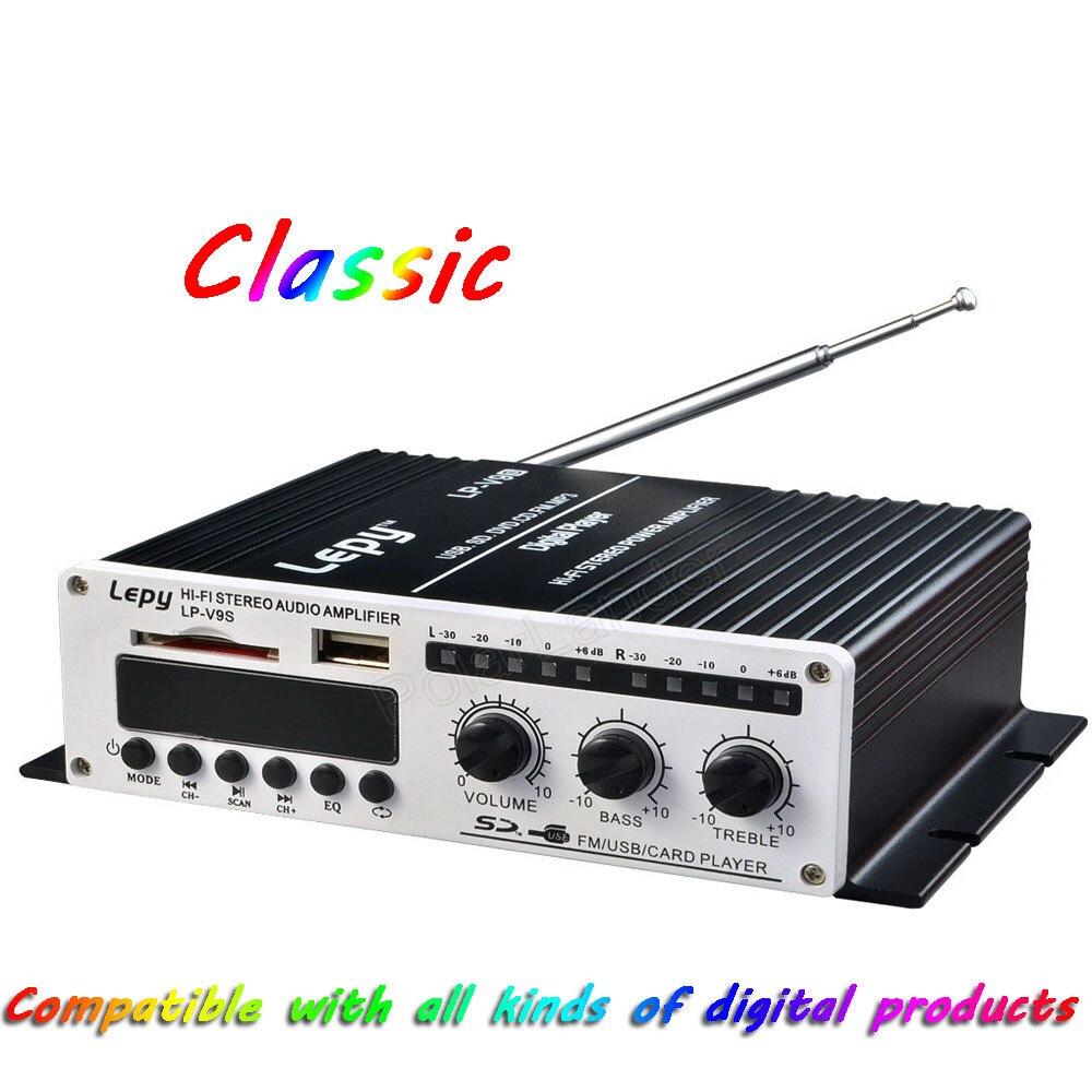 LP-V9S Hi-Fi Mini numérique moto Auto voiture stéréo amplificateur de puissance LED affichage Mode sonore Audio lecteur de musique