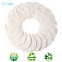 iCosow Reusable Makeup Remover Pads 100 Pcs, Washable Organic Bamboo Cotton Rounds, Toner Pads, Facial Soft Cleansing Wipes