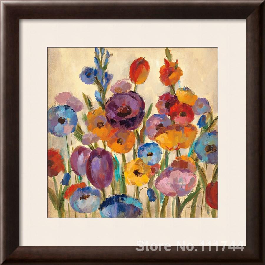 dc999f27d خلاصة اللوحة حديقة الأشكال ط بنسبة سيلفيا vassileva الفن ل غرفة المعيشة  رسمت باليد عالية الجودة