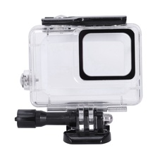 Waterproof Housing for Gopro Hero7 White and Silver, Protective 45m Underwater Dive Case Shell with Bracket Accessories