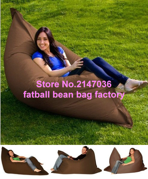 2016 new arrived outdoor waterproof funny seat cushion bean bag (NW1060) - Brown lazy chair, Garden relaxing bean bag sofa sat brown waterproof outdoor children junior bean bag chair