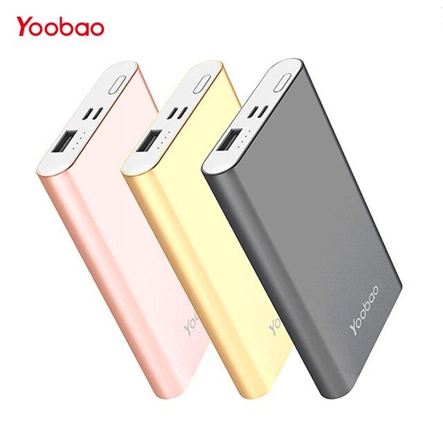 Yoobao Мобильные аккумуляторы 10000 мАч для iPhone 7 8 X Малый Мощность банк Портативный Зарядное устройство Внешний Батарея для Samsung S8 телефон pover банк