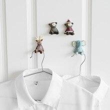 1 шт. ключ штекер стеллаж для хранения с крючком полимерные крючки семейный халат подвесные крючки сумка для шляп семейный халат сумка для шляп клейкая настенная подвеска для ключей