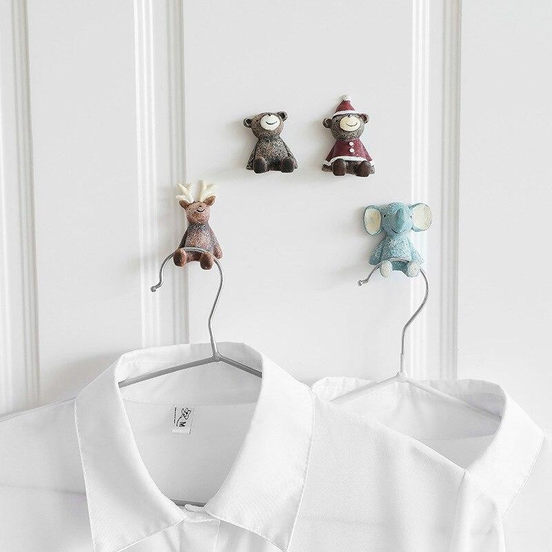1 шт. ключ вилка стеллаж для хранения с крючком полимерные крючки семейный халат подвесные крючки сумка для шляп семейный халат сумка для шляп клейкая настенная подвеска для ключей Крючки и направляющие      АлиЭкспресс