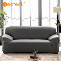 Neoteck Flexible Solid Sofa Cover Funiture Covers Removable Stretch Couch Sofa Lounge Cover Recliner 3 Seater Dining Chair Cover