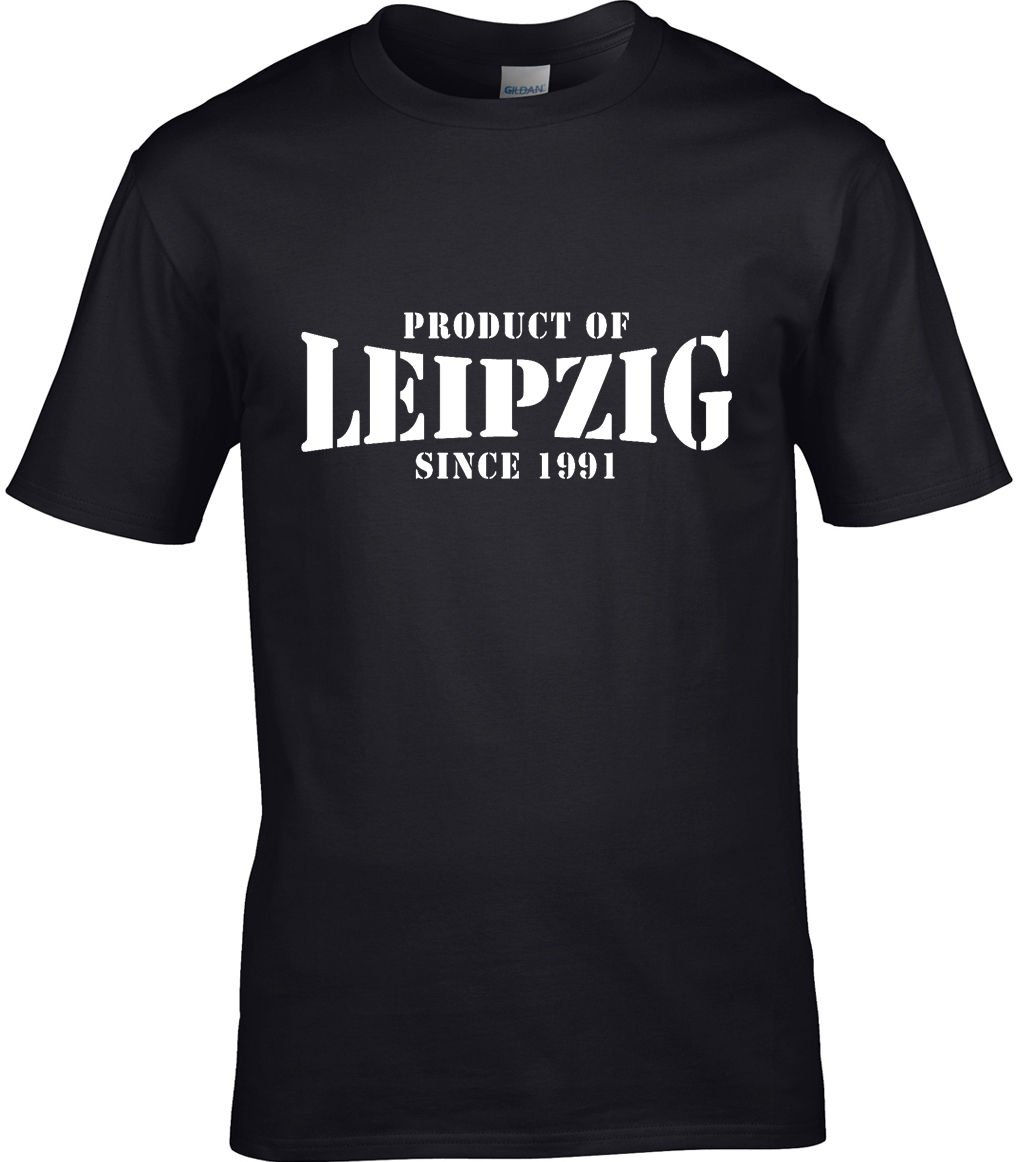 Product Of Leipzig Germany Mens T-Shirt Place Birthday Gift Men 2017 Summer Round Neck Men'S T Shirt