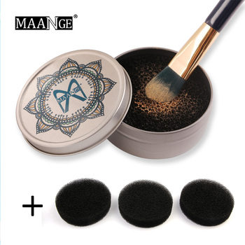 MAANGE Makeup Brush Cleaner Sponge +3Pcs Puff Remover Color From Brush Eyeshadow Sponge Tool Cleaner To Wash Make Up Brushes New 1