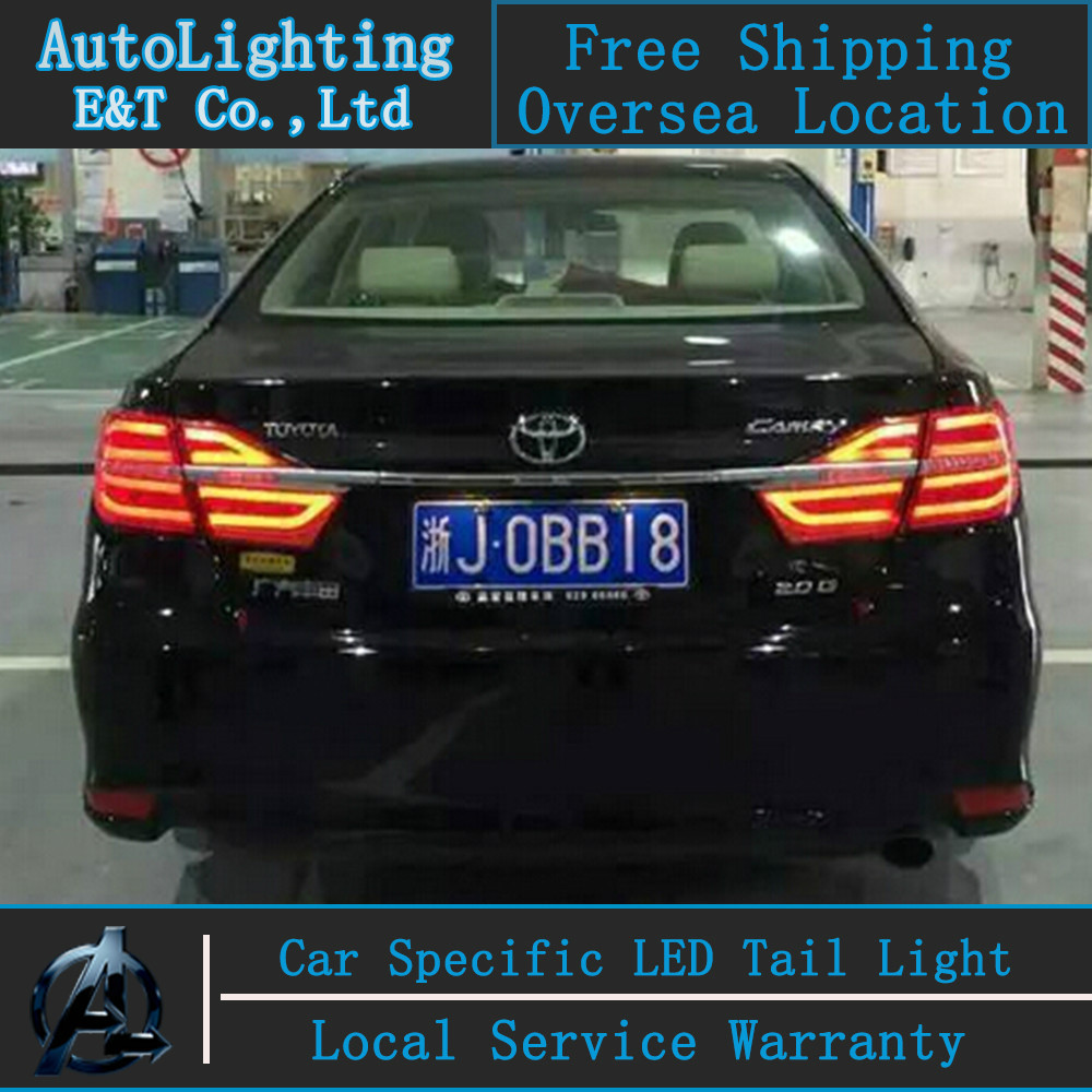 Car Styling LED Tail Lamp for Toyota Camry taillight assembly 14-15 New Camry LED Tail Light rear lamp drl H7 with hid kit 2pcs.