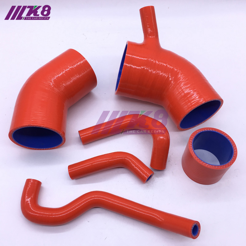 Race Dept Silicone Radiator Coolant Hose Kit Red for