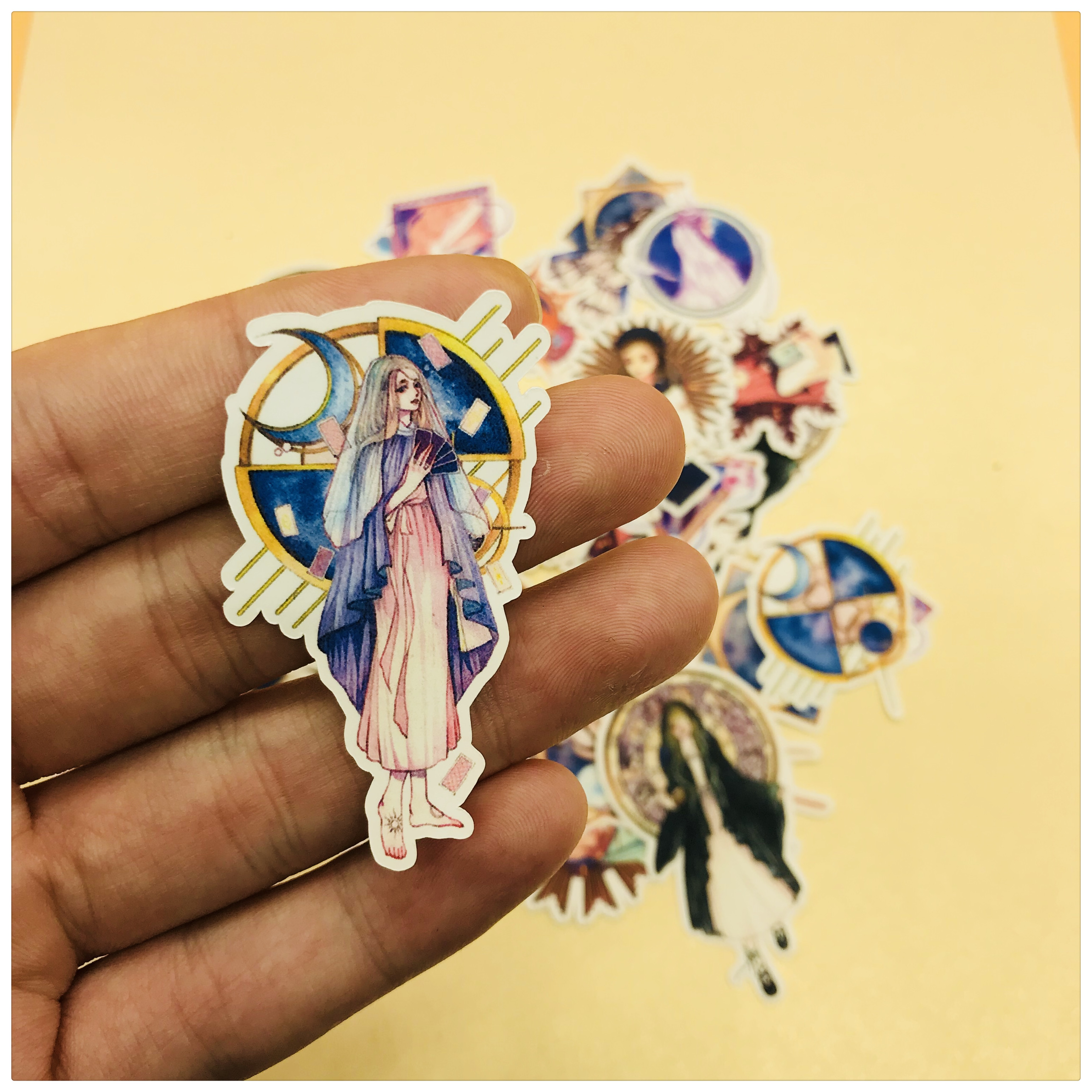 35pcs Tarot Retro Girl Decoration Stationery Sticker Diy Diary Scrapbooking Label Sticker Stationery