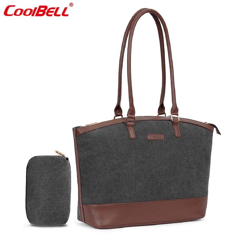 8fa848d3a4ef CoolBELL Ladies Laptop Tote Bag 15.6 Inch Lightweight Waterproof Travel  Shoulder Bags Classic Notebook Women Office Handbag