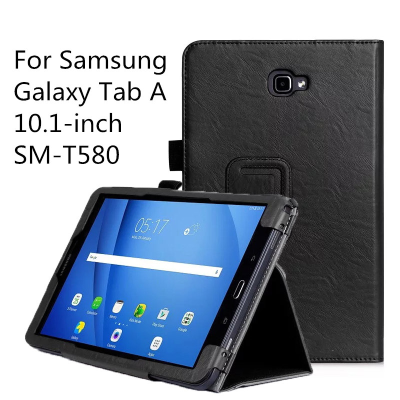 PU Leather Case Smart Auto Wake/Sleep Cover with Hand Strap For Samsung Galaxy Tab A 10.1 SM-T580/T580 2016 Release fashion pu leather flip case for samsung galaxy tab a a6 10 1 2016 t580 t585 sm t580 smart case cover funda tablet sleep wake up