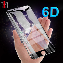 Hisomone Tempered Glass For iPhone 8 Screen Protector 6D Ful