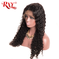 RXY Hair Deep Wave Wig Glueless Lace Front Human Hair Wigs For Black Women Pre Plucked With Baby Hair Natural Hairline Non Remy