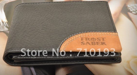 New fashion men's wallet business and leisure pure leather wallet hot two-fold short wallet