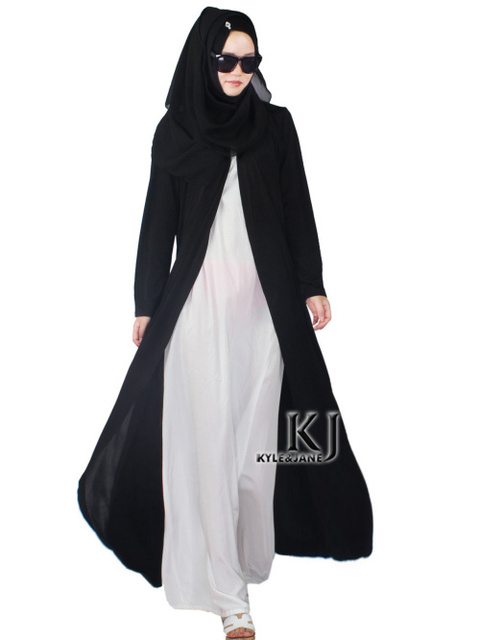 2015 Musulmanes de la rebeca con un botón chilaba turco mujeres ropa larga chaqueta de punto de algodón outwear abrigo de moda dubai KJ150808
