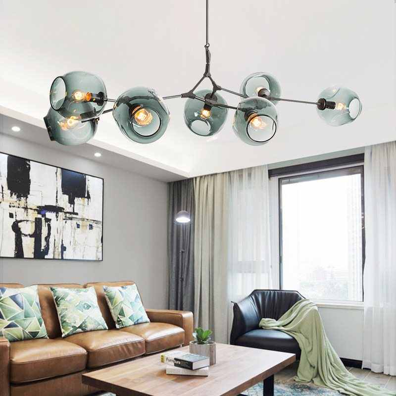 Molecule chandelier Lighting Dining Room Kitchen Bar plexiglass lamp Loft industrial Retro Decor lustre vintage suspension lamp
