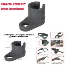 Dragonpad Universal Black 22mm 1/2» Oxygen Sensor Offset Removal Flare Nut Socket Wrench Automobile Motorcycle Car Repair Tool