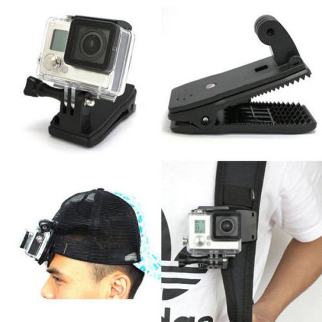 Backpack Hat Clip Mount 360 Degree For GoPro Hero