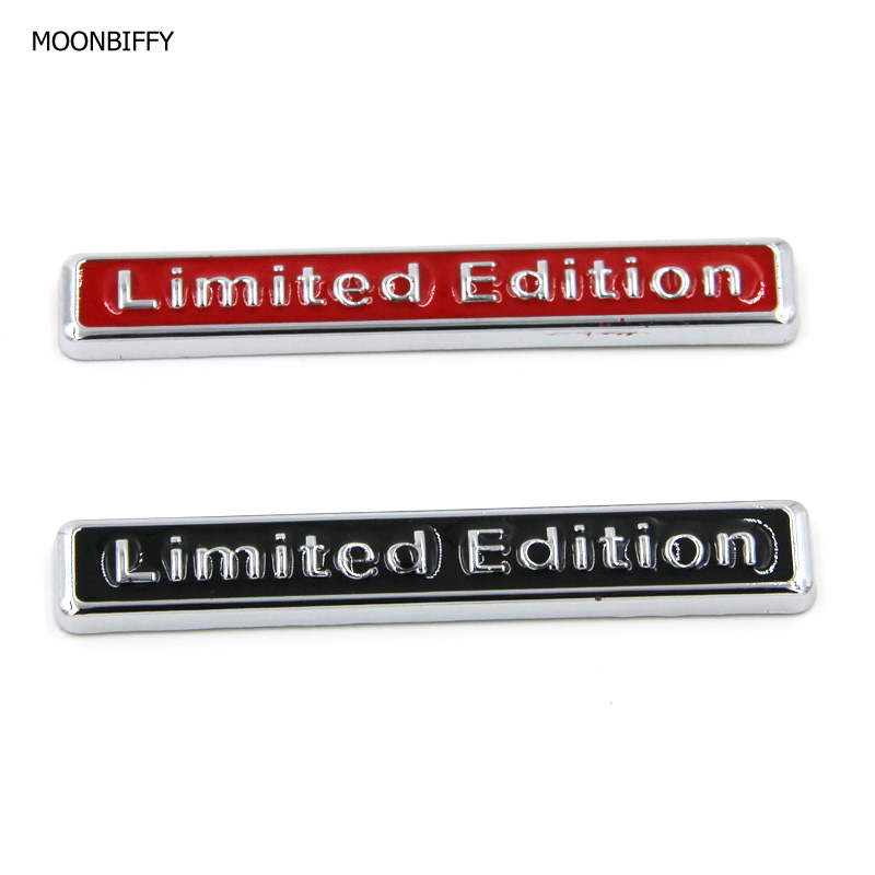 MOONBIFFY 3D Metal Chrome Limited Edition Car Sticker Badge Decal Auto Motorcycle Emblem Car Styling Car Accessories 15x15cm round svt cobra shelby gt500 super snake chrome abs car styling refitting emblem badge grille trunk 3d sticker for ford
