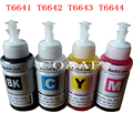 Compatível conjunto de tinta para T6641-T6644 664 para epson l130 l132 l300 l310 l301 l312 l303 l313 l350 l351 l353 l355 l360 impressora
