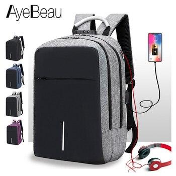 Anti Diebstahl Laptop USB Anti-Diebstahl Smart Mann Rucksack Männlichen Diebstahl Lade Für Teenager Schule Tasche Schul Bagpack Zurück pack