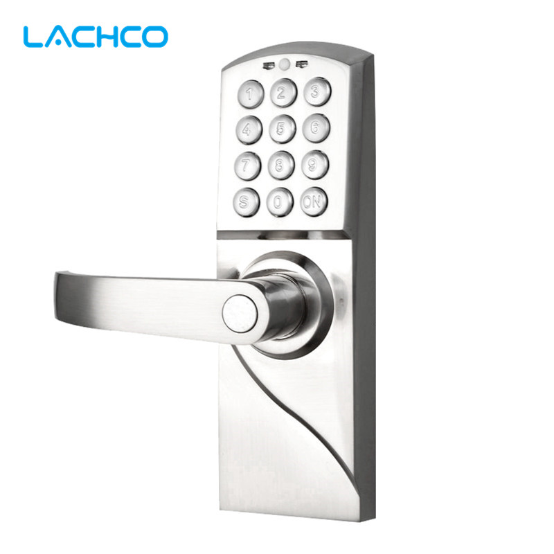 LACHCO Electronic Code Door Lock Digital Smart Keypad Password + Backup Key Smart Entry  L16070BS ospon digital keypad door lock with backup round key locker electronic entry by password code combination password key os7717