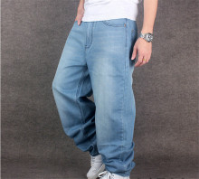 2015 Hot hip hop baggy men jeans hip-hop style men's loose rap denim pants skateboard trousers big size 30,32,34,36,38,40,42,46